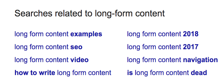 related keywords Google